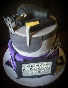 Special delivery to #umbertobeverlyhills today. Happy Birthday Roni!! #hairstylist #blowdryer #custom #theme #cake