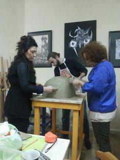 Tabalkon sanat evi rölyef çalışmaları sanat seramik yetişkin çoçuk kursları hobi ve güzel sanatlara hazırlık