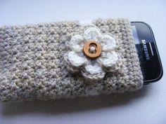 Crochet mobile phone cover crochet phone case by Bbabscrochet