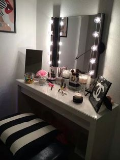 Makeup table/vanity! on We Heart It