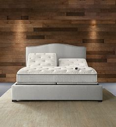 Flexible mattress bases, like Sleep Number's, here, can elevate your head, knees, and feet and turn your bed into a chaise lounge. Sleeping with a snorer? Sleep Number's remote control allows you to raise your partner's head. Via SleepNumber.com