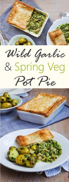 Wild Garlic & Spring Veg Pot Pie |Euphoric Vegan