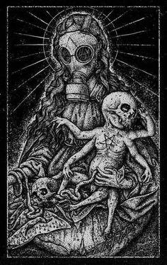 Madona and the Devil's Child by Hugo Silva, via Behance - ghg - ART Arte Horror, Horror Art, Arte Punk, Photographie Portrait Inspiration, Evil Art, Satanic Art, Arte Obscura, Demon Art, Macabre Art