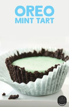 OREO Mint Tart - a delicious winter treat for friends, family any OREO lovers out there.