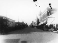 Anaheim View looking north on Los Angeles Street (now Anaheim Blvd.) toward Center Street (now Lincoln Ave.) circa 1913