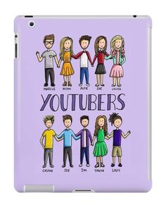 Our British YouTubers iPad Case is available online now for just £9.99.    Fan of Alfie, Zoe, Marcus, Niomi, Louise, Joe, Caspar, Louis, Jim & Tanya? You'll love our British YouTubers iPad case!    Material: Plastic, Production Method: Printed, Authenticity: Unofficial, Weight: 60g, Thickness: 12mm, Colour Sides: White, Compatible With: iPad 2 | iPad 3 | iPad 4 | iPad Air | iPad Mini | iPad Mini 2, Features: Slim fitting one-piece clip-on case that allows full access to all device ports. Thi