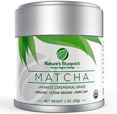 Nature's Blueprint Organic Japanese Matcha Green Tea Powder (1 oz Tin) - Ceremonial Grade *** Click on the image for additional details.
