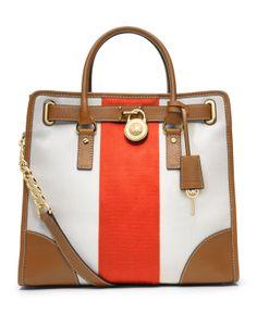 MICHAEL Michael Kors Hamilton Mono Stripe Large North South Tote - Shop All Michael  Kors Handbags   Accessories - Handbags   Accessories - M. eeb764b8549