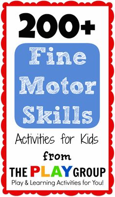 a huge collection of activities for kids to practice fine motor skills