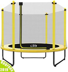 LANGXUN Outdoor & Indoor Trampoline with Enclosure net and Safety Jumping Mat Cover Little Tikes Trampoline, Fun Trampoline Games, Small Trampoline, Toddler Trampoline, Outdoor Trampoline, Trampoline Basketball, Basketball Hoop, Birthday Gifts For Kids, Gifts For Boys