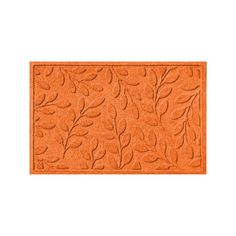 WaterGuard Brittany Leaf Indoor Outdoor Mat, Orange