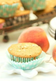 These are now my favorite muffins.  Sound good would never have known they were low calorie. Peach Granola Muffins Low Calorie, Low Fat, Healthy Breakfast