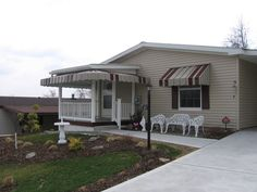 Pan & Cover Aluminum Awnings with Mitered Corners