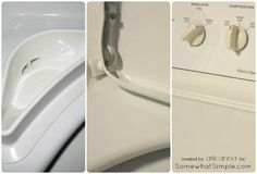 Learn how to clean your washing machine in just a few EASY steps. These cleaning tips will work for BOTH front and top load machines! Diy Home Cleaning, Diy Cleaning Products, Cleaning Solutions, Cleaning Hacks, Clean Your Washing Machine, Washing Machines, Laundry Hacks, Diy Cleaners, Organization Hacks