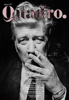 David Lynch for Quadro magazine | Magazine Cover: Graphic Design, Typography, Photography |