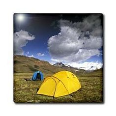 """Alaska, Saint Elias National Park. Camping - US02 GJE0099 - Gavriel Jecan - 12 Inch Ceramic Tile by 3dRose. $22.99. High gloss finish. Construction grade. Floor installation not recommended.. Clean with mild detergent. Dimensions: 12"""" H x 12"""" W x 1/4"""" D. Image applied to the top surface. Alaska, Saint Elias National Park. Camping - US02 GJE0099 - Gavriel Jecan Tile is great for a backsplash, countertop or as an accent. This commercial quality construction grade tile has a hi..."""