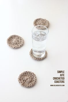 Great tutorial if you are a beginner at crochet. From deliacreates.com...Simple Jute Twine Crocheted Coasters
