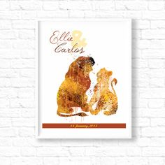 Hey, I found this really awesome Etsy listing at https://www.etsy.com/listing/243042194/the-lion-king-simba-and-nala-wedding
