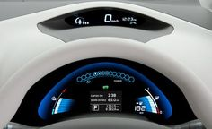 2011 Nissan Leaf infotainment system photo, futuristic dashboard, future car