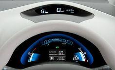 2011 Nissan Leaf infotainment system photo, futuristic dashboard, future car