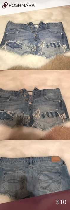 Abercrombie low rise jeans Abercrombie & Fitch cut off jeans Abercrombie & Fitch Shorts Jean Shorts