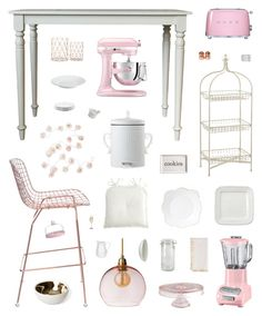 """""""Chic Dining Room"""" by belenloperfido ❤ liked on Polyvore featuring interior, interiors, interior design, home, home decor, interior decorating, Culinary Concepts, KitchenAid, Smeg and Carolina Cottage"""