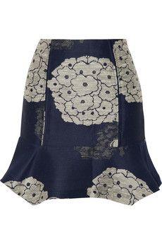 Michael van der Ham Silk-jacquard mini skirt   NET-A-PORTER