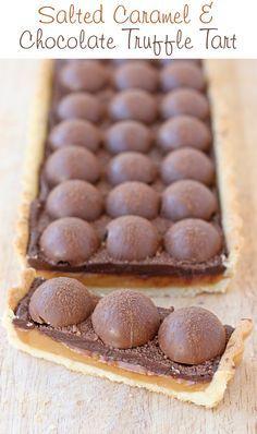 Salted Caramel Chocolate Truffle Tart