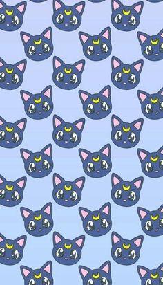 grafika wallpaper, cat, and sailor moon                                                                                                                                                      Mais