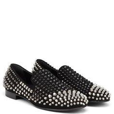 Edge Giuseppe Zanotti Sale Flat Slip on Loafers Black Leather Men
