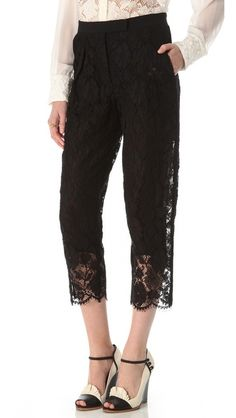 Sonia Rykiel Cropped Lace Pants- OBSESSED!