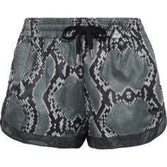 Adidas Originals LA printed shell shorts (€16) ❤ liked on Polyvore featuring shorts, pull on shorts, adidas originals shorts and adidas originals