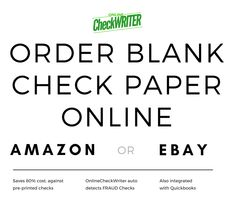 Order Checks Online - Get Blank Checks - Print checks online Any Printer Order Checks Online, Checkbook Register, Check Mail, Blank Check, Invoice Template Word, Writing Software, Business Checks, Online Support, Letter Size Paper