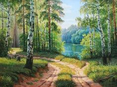 Kits Broderie diamants, Diamond Painting kits complet carrés de paysages. | C.S.M Waterfall Drawing, Seascape Art, Magic Forest, Fantasy Places, Fictional World, Lake Forest, Art Reference, Landscape Paintings, Photo Art