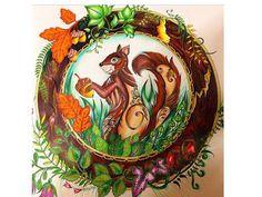 Esquilo - Floresta Encantada - coloring book