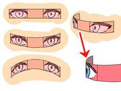 角度のついた顔を描きやすくする4つのコツ|イラストの描き方 目を描くコツ:リボン状に考える 1/4 Drawing heads from whatever angle made easy! 4 tips | Illustration Tutorial Think of the eyes as a ribbon 1/4