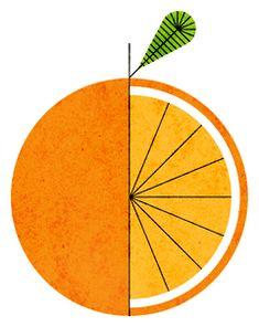 Orange illustration by Lan Truong