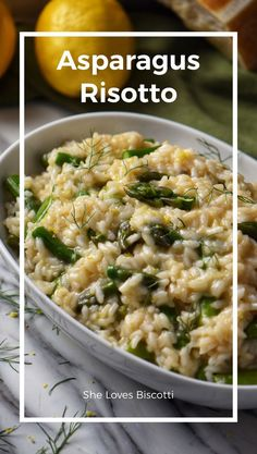 Asparagus Risotto - you will make this recipe again and again. recipes Asparagus Risotto -It's Easier Than You Think! Side Dish Recipes, Veggie Recipes, Beef Recipes, Vegetarian Recipes, Dinner Recipes, Cooking Recipes, Healthy Recipes, Top Recipes, Asparagus Risotto Recipe