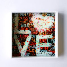 LOVE tray  Our love is the greatest gift we can give one another  original artwork from the LOVE collection by artist caroline rovithi ( www.carolinerovithi.com)   Square plexiglass tray with original design as result of personal inspiration and totally handmade.  size : 20 cm X 20 cm X 3,5 cm height  Comes in white porcelain, black & transparent plexiglass
