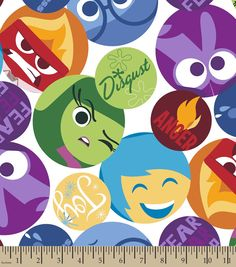 Disney Inside Out Emotions Patch FleeceDisney Inside Out Emotions Patch Fleece,
