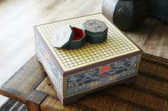 KOREAN PAPER ART  baduk go board table and stone by Koreanpaperart, $1450.00