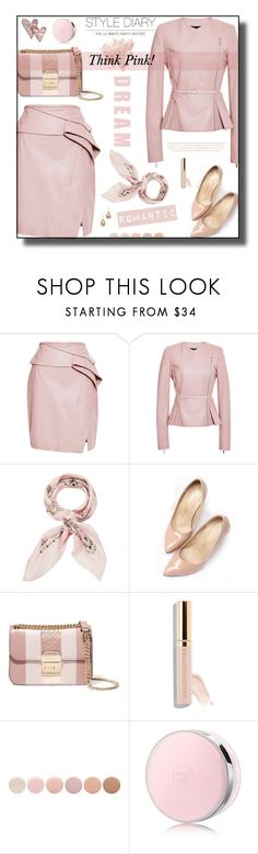 """""""Pink"""" by daiscat ❤ liked on Polyvore featuring Elie Saab, Manipuri, MICHAEL Michael Kors, Lazy Days, Beautycounter, Deborah Lippmann, Bare Escentuals, Chanel and Theia Jewelry"""