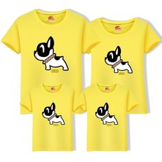 2019 Cotton Father Son t Shirt Matching Family Outfits Mom Dad Big Size Tee Cartoon Dog Cotton Clothing Matching Family Tops Cartoon Dog, Matching Family Outfits, Mother And Father, Family Dogs, Dog Shirt, Mom And Dad, Boston Terrier, Sons, Big