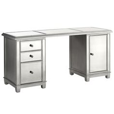 Hayworth Mirrored Storage Desk