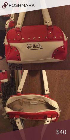 8cdfe9d0bf Von Dutch Handbad Von Dutch handbag. Red and white. Great condition. Make  me an offer-open to trades. Von Dutch Bags