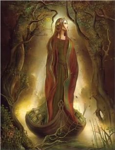 Sequana - Celtic River Goddess; She is connected to the River Seine...specifically to the springs located at the source of the river; this is called Fontes Sequanae (The Spring of Sequana).