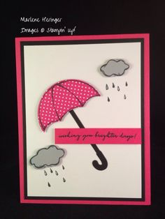 Stampin Up! Weather Together, Pop of Pink