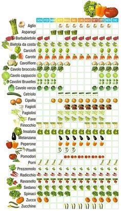 Calendario verdura di stagione