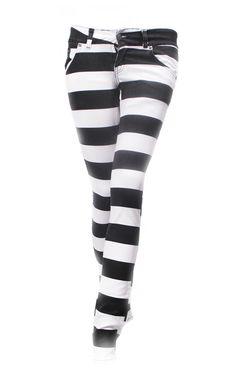 Jist Black & White Prison Stripe Jeans £31.99 if I wore Pants I would wear these pants