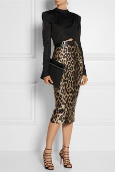 5. Aqua Animal Print Tie Neck Blouse at Bloomingdales $68.006. Thalia Sodi Leopard-Print Pencil Skirt at Macy's $34.997. ASOS High Waist Leggings in Leopard Print $33.008. Ladylike Leopard Print Pleated Chiffon Long Skirt at Rosegal $13.00